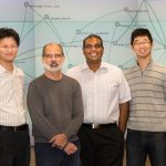ORNL researchers (from left) Seung-Hwan Lim, Larry Roberts, Sreenivas Rangan Sukumar and Matt Lee developed a new smart data tool for medical research called ORiGAMI that has the potential to accelerate medical research and discovery. ORiGAMI is the result of collaboration between ORNL and the U.S. National Library of Medicine that made use of CADES resources.